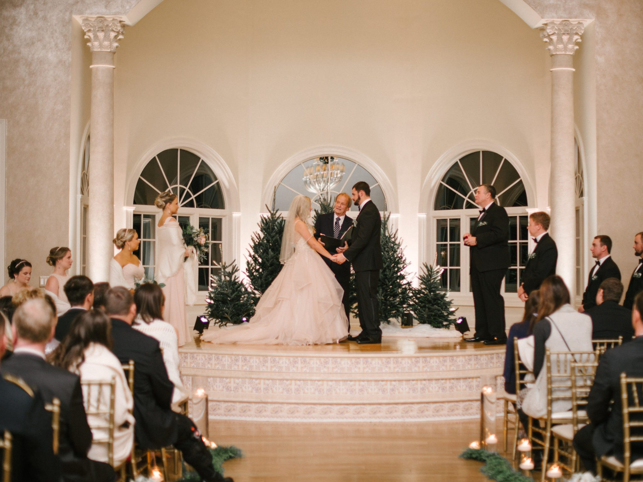 KimStockwellAshleyandMattMoraisVIneyardWedding273 Winter Weddings - A Snow Fairy Tale