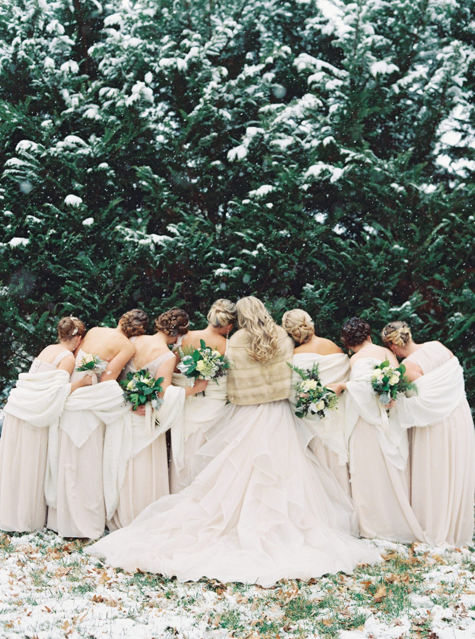 KimStockwellAshleyandMattMoraisVIneyardWedding314 Winter Weddings - A Snow Fairy Tale