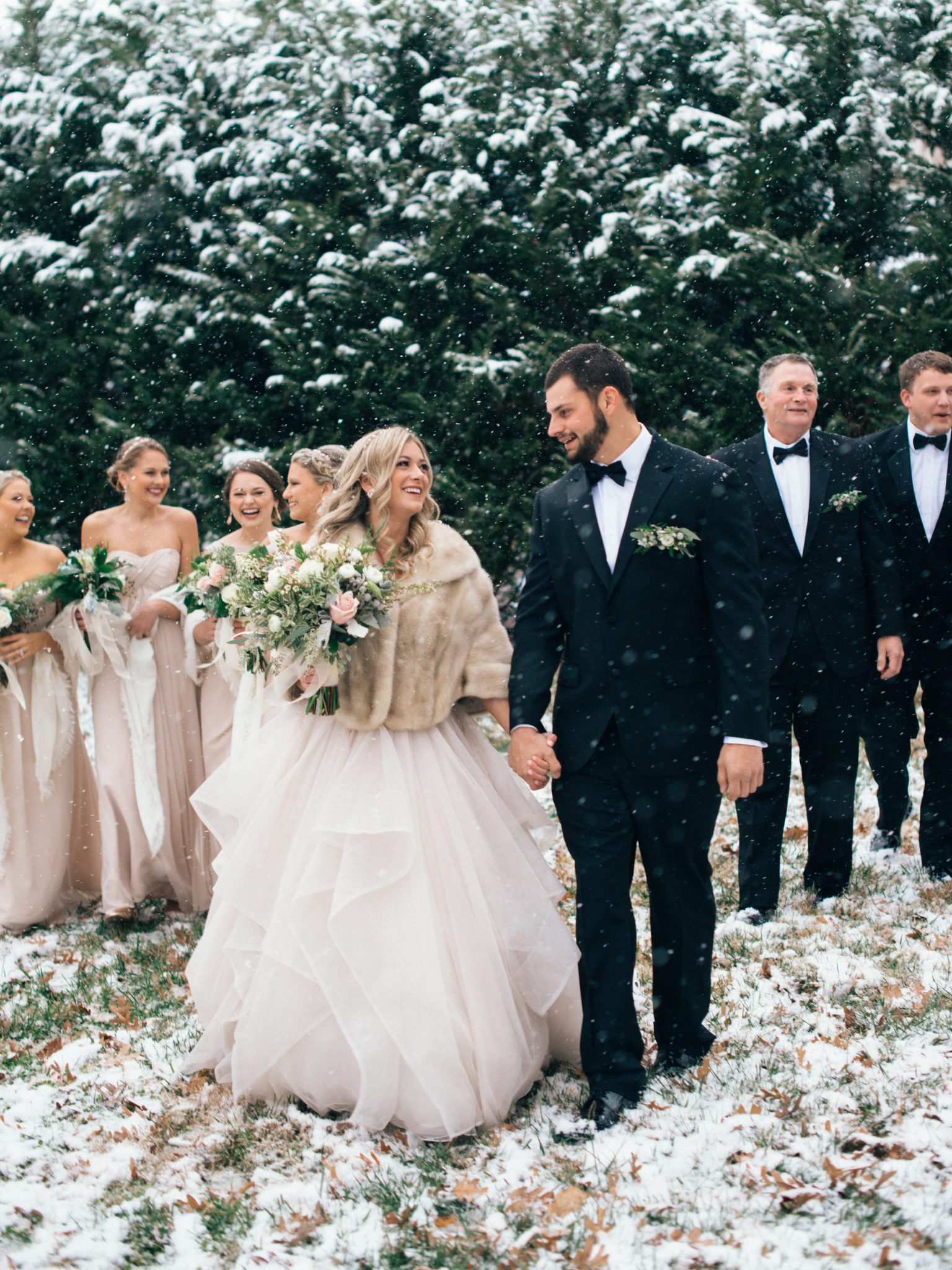 KimStockwellAshleyandMattMoraisVIneyardWedding335 Winter Weddings - A Snow Fairy Tale